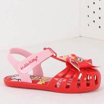 Sandália Infantil Grendene Hello Kitty - 17 Ao 25 - Vermelho