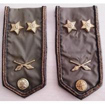 A8923 Platinas/divisas Tchecas Do Exército Em Nylon, Medindo