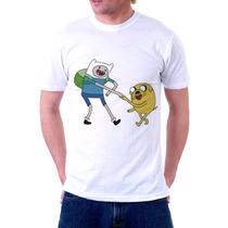 Camisa, Camiseta Desenho Hora Da Aventura Finn E Jake
