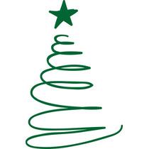 Adesivo Decorativo De Parede - Árvore De Natal 4 Rosa Carmim