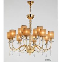 Lustre Plafon Europeu Cristal Asfour Ouro 24k Sala Hall