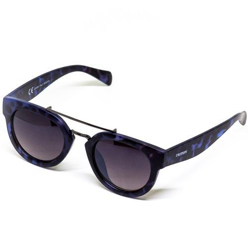370cf6c4c5ba7 Óculos Triton Yd1531 - Azul C  Preto -acetato- 12x Sem Juros