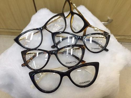 Armação De Óculos De Grau Gatinho C  Pérola Haste C  Brinde - R  120 ... 48110a395e