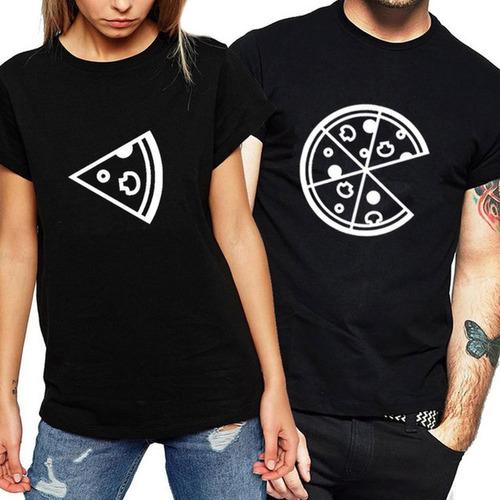bc69dbc194 Kit 2 Camisetas Camisa Namorados Casal Pedaço Fatia Pizza à venda em ...