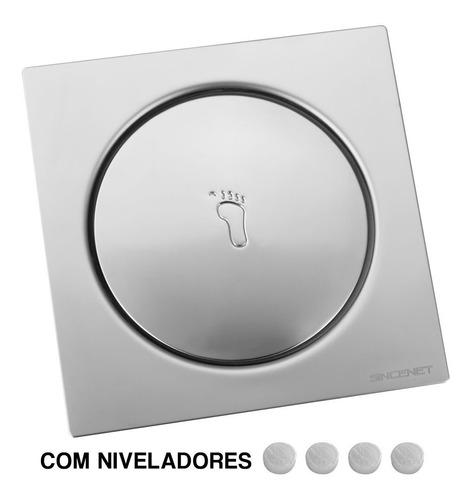 Ralo Click Inteligente 15x15 Grelha Cromada De Inox