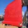 Lona Vermelha Vinil Pvc 1,57x15 Toldo Tenda Impermeável