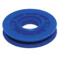 _roldana Para Maquina De Vidro Cabo 3mm Azul C/ Rebite Cod94