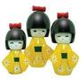 Bonecas Kokeshi Japonesas De Madeira Trio