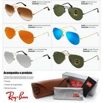Oculo Rayban Aviador Espelhado - Óculos De Sol Ray-ban