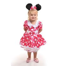 Fantasia Vestido Minie Rosa Luxo