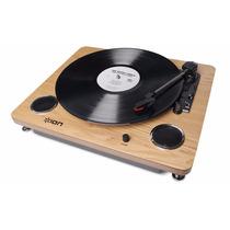 Toca Discos Vitrola Com Conversor Digital Mp3 Usb Ion Archiv