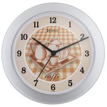 6154 - Relógio Parede 21 Cm Herweg Prata Cozinha
