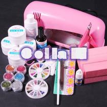 Profissional Cabine Secagem 9 W Uv Unha Gel Acrlico + Kit