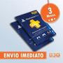 Cartão Psn Playstation Plus 3 Meses Americana Usa Imediato!