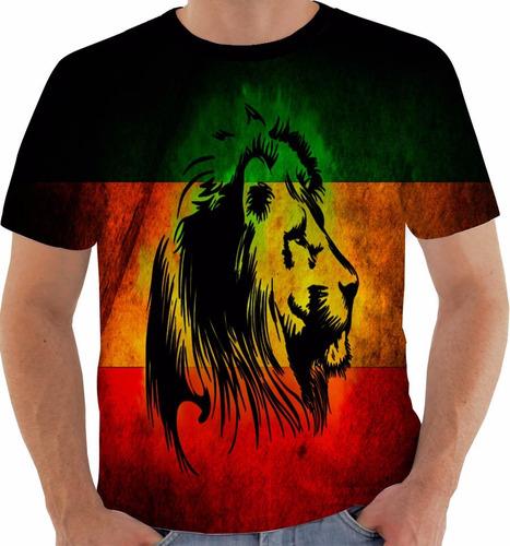 Camiseta 1696 Bob Marley Lion Leao Reggae Tribo Juda Jah Cor