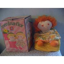 Boneca Antiga Menina Flor Estrela Brinquedo Grande Perfeita