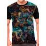 Camiseta Galáxia Psicodélica Blusa Moletom Regata Skate Rock