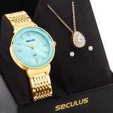 Kit Relógio Feminino Seculus Original Com Garantia E Nfe