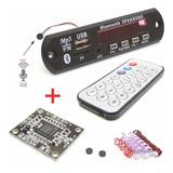 Placa Decodificador Usb Mp3 Bluetooth + Amplificador Estéreo