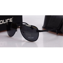 Óculos De Sol Aviador Polarizado Police Com 100% Uva Uvb