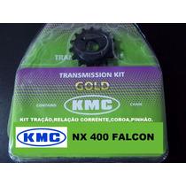 Kit Relação Falcon 400 / 400i Kmc Aço 1045 Kit Tração