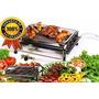 Churrasqueira Grill A Gás Cromada C/opção Kit Bafo Promoção