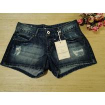 Short Jeans Acostamento Com Puídos
