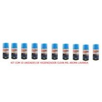 Kit Com 10 Higienizadores Spray Clean Mil Aroma Lavanda