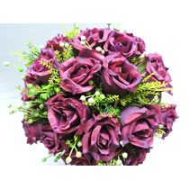 Buque Rosas Vinho Bouquet Noiva Casamento Permanente