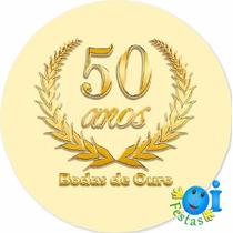 300 Adesivo Bodas De Ouro Lembrancinha Pronta Entrega