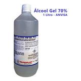 Álcool Em Gel 70% - 1 Litro - Envio Imediato + Nfe