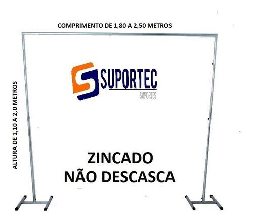 Suporte Tela Cortina Balão Painel Festa Banner Bexigas 2x2,5