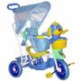Triciclo Infantil C/ Capota 3x1 -  Música/luzes - Azul
