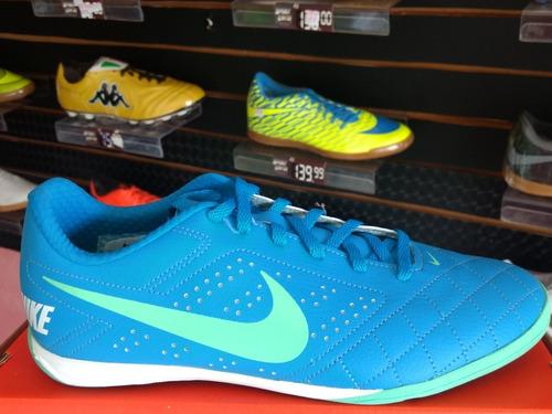 8f11dae071 Chuteira Futsal Nike Beco 2 Original Azul Indoor. Preço  R  200 Veja  MercadoLibre