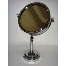 Espelho/maquiagem Base Cromada Dupla Face 2x Aumento