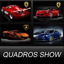 Quadros Decorativo Carros Ferrari, Lamborg. N Precisa Furar
