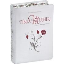 Bíblia De Estudo Da Mulher Grande Bordas Floridas Frete Grát