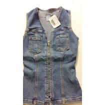 Lindo Colete Jeans Zoomp,original,excelente Preço!