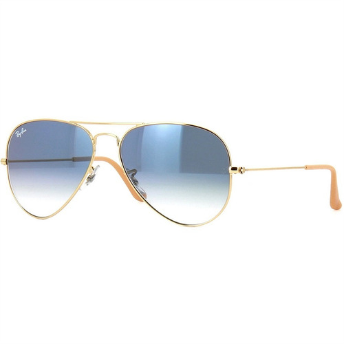 be0fd9728 Óculos Ray-ban Aviador Dourado Azul Degrade Original Unissex à venda ...
