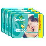 Fralda Pampers Total Confort Super M  296 Tiras