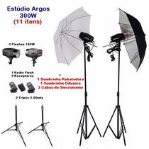 Kit Estudio Fotografico 300w Profissional Greika Argos 110v