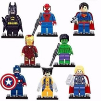 Lego Batman Ironman Thor Spiderman Superman Hulk Wolverine