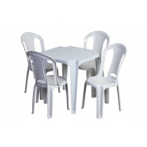 Conjunto De Mesa E Cadeiras Tramontina 182 Kilos