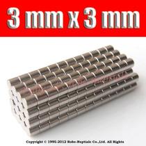 Imã De Neodímio / Super Forte / 3mm X 3mm * 100 Peças *