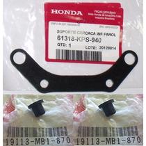 Suporte Inferior Com Coxim Carenagem Crf230 Original Honda
