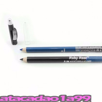 12 Un Duo De Lápis Delineador Olhos Preto/azul Com Apontador