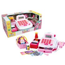 Caixa Registradora Infantil Som Luz Microfone Dm Toys