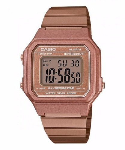 ca01b216c61 Relógio Casio Feminino Vintage B650wc 5adf Rose Digital