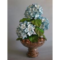 Arranjo Artificial De Flor Em Eva Hortência