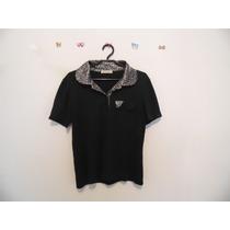 Camisa Feminina Polo Preta Oncinha Cód. 407